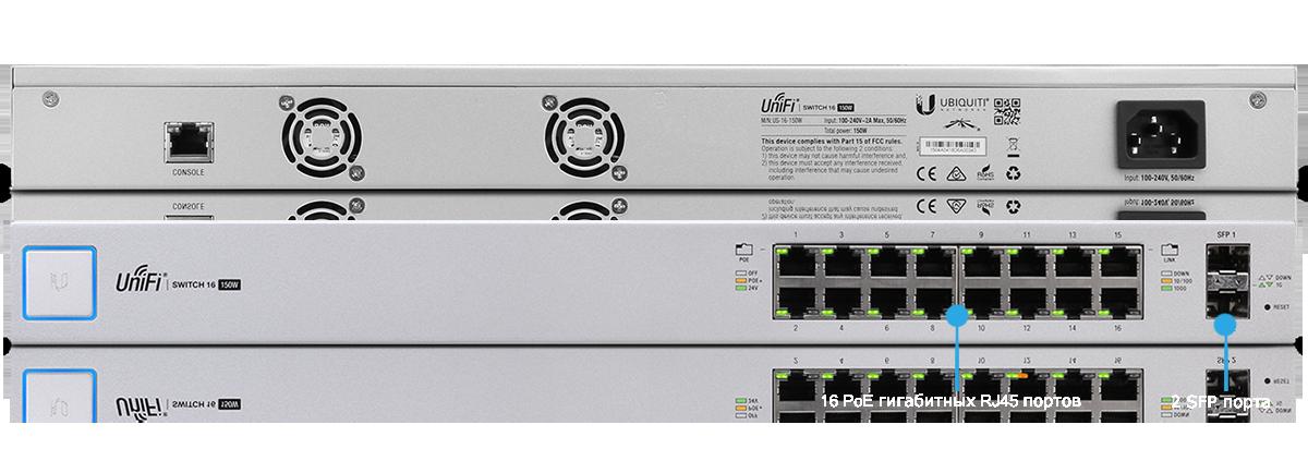 Ubiquiti Switch 16-150W